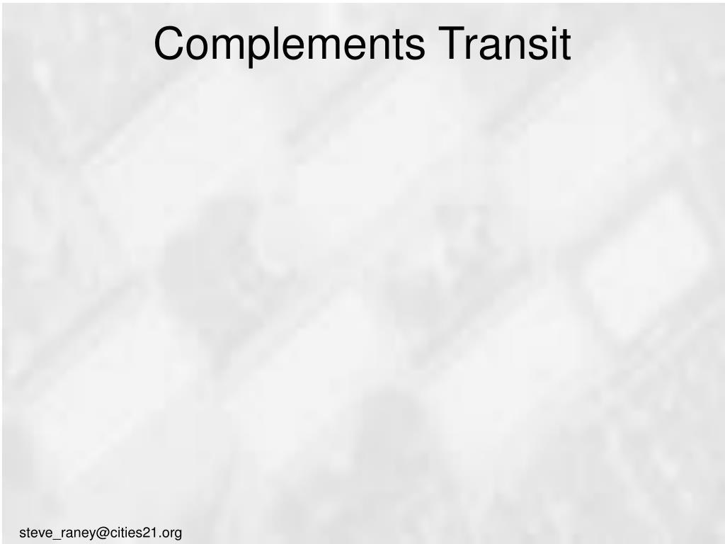 Complements Transit