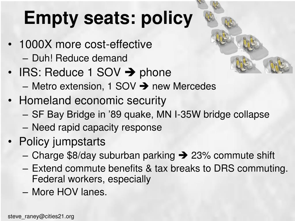 Empty seats: policy