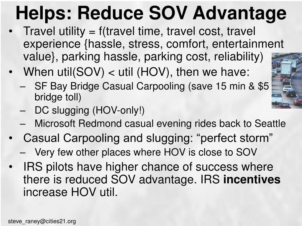 Helps: Reduce SOV Advantage