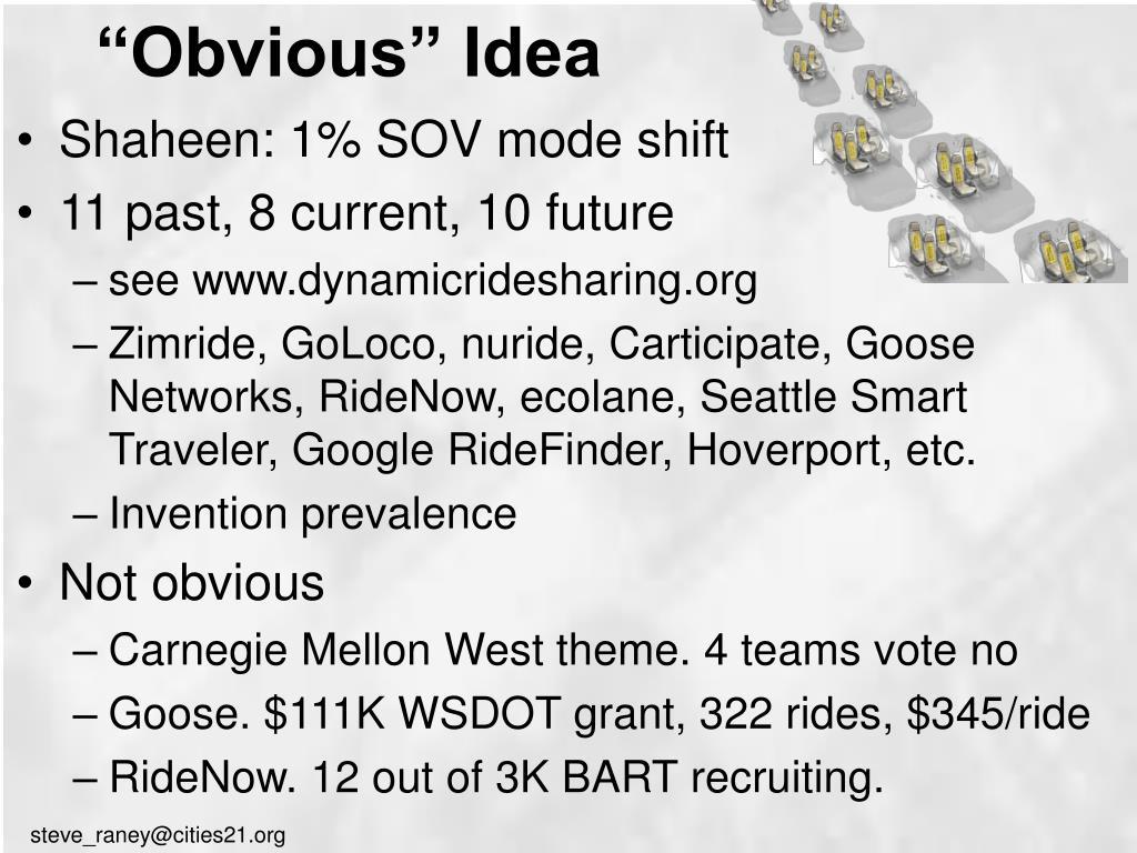 """Obvious"" Idea"