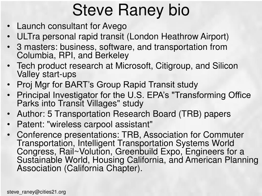 Steve Raney bio