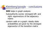kleinberg google conclusions
