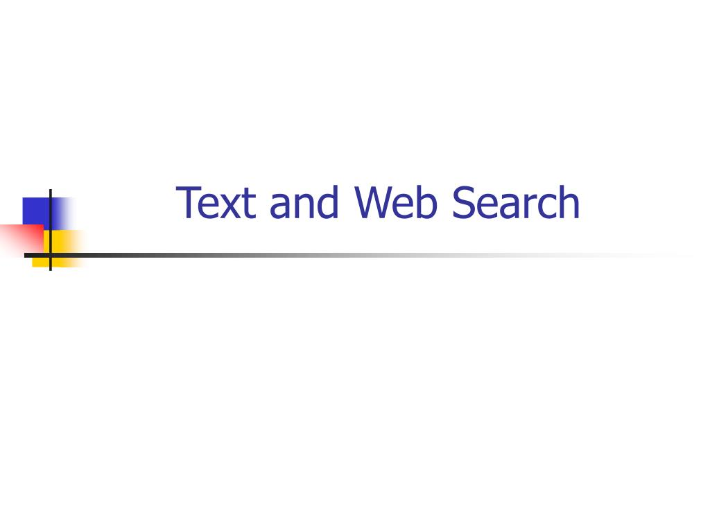 text and web search l.