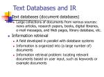 text databases and ir
