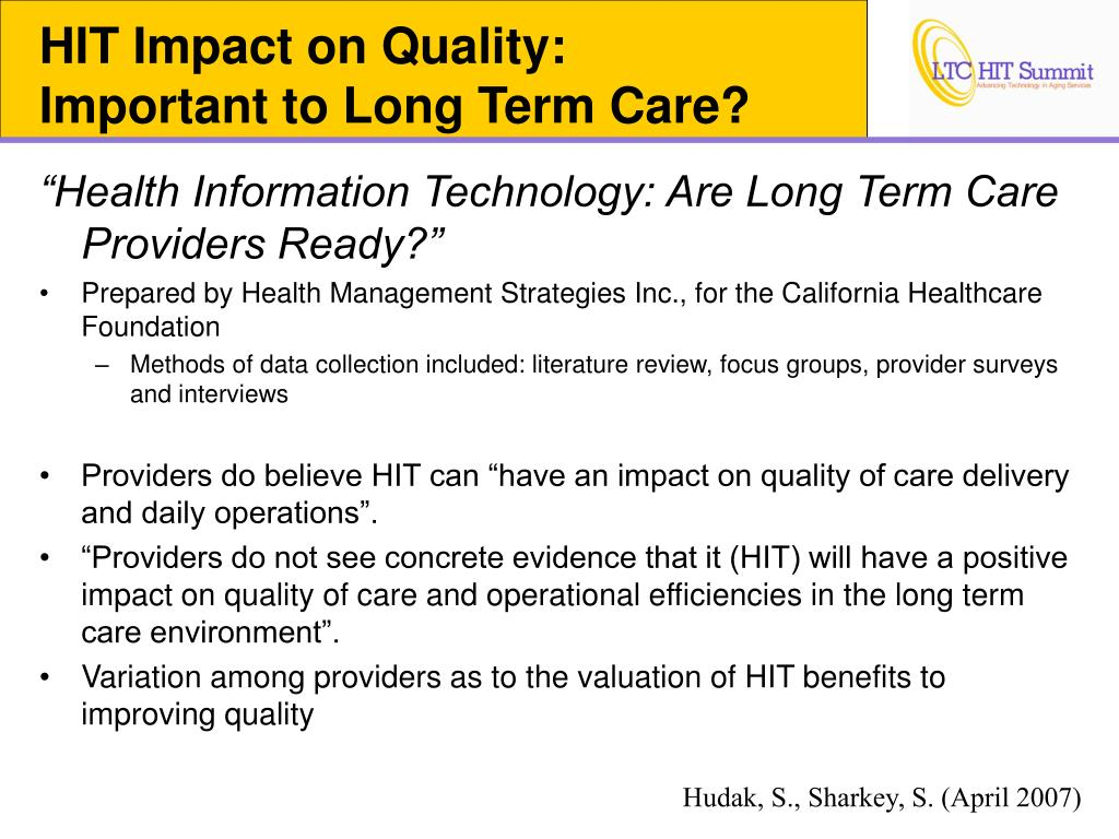 HIT Impact on Quality: