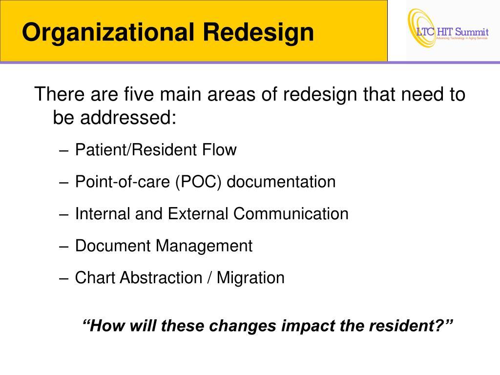 Organizational Redesign