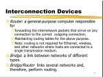 interconnection devices