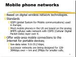mobile phone networks