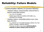 reliability failure models