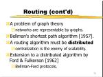 routing cont d