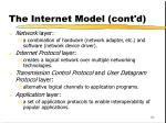 the internet model cont d