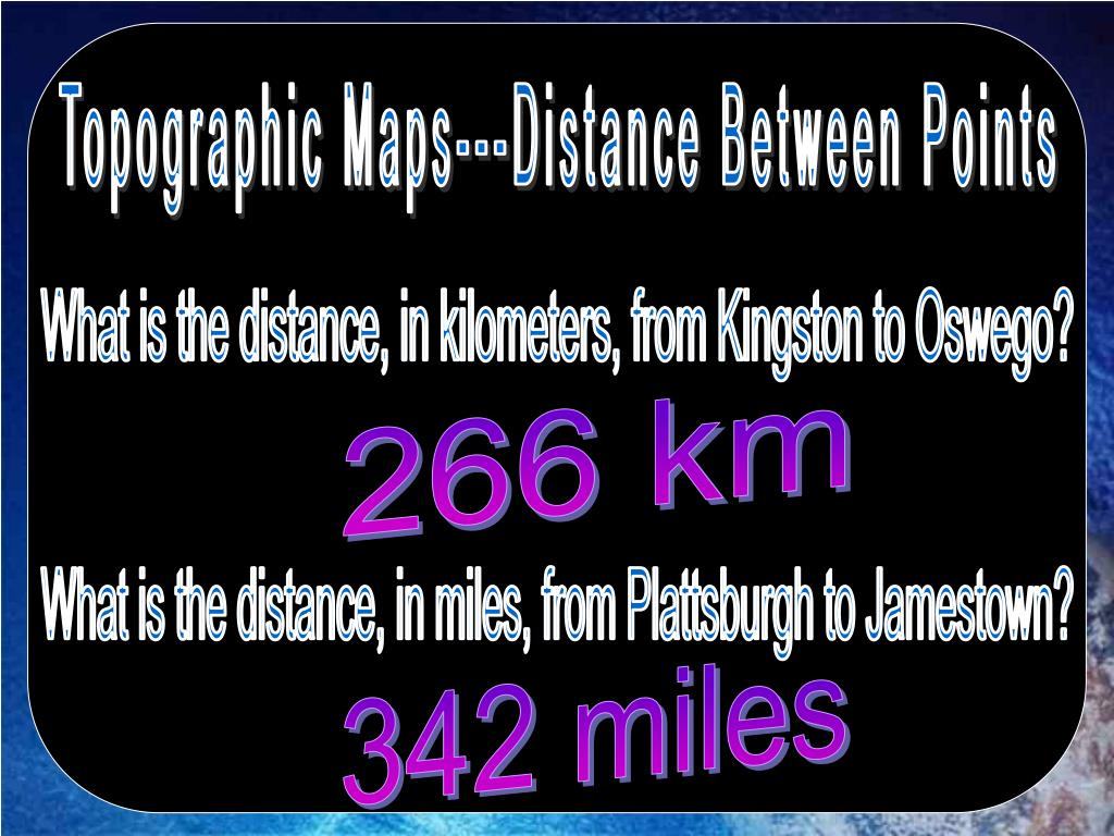 Topographic Maps---Distance Between Points