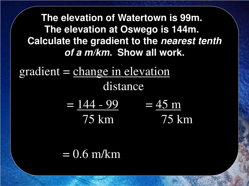 The elevation of Watertown is 99m.