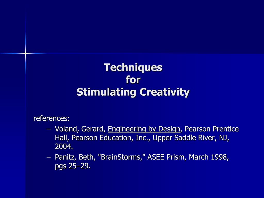 techniques for stimulating creativity