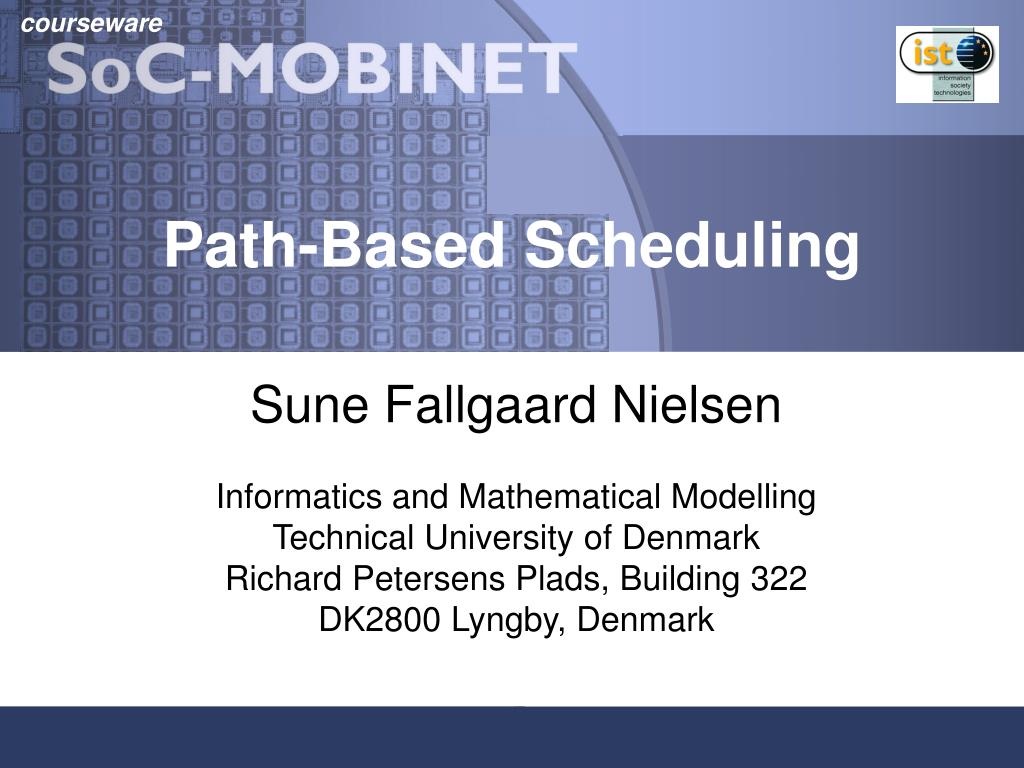 path based scheduling