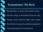 transmission the basic
