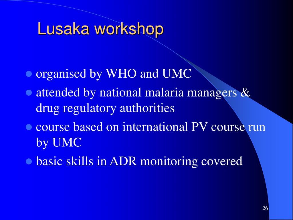 Lusaka workshop