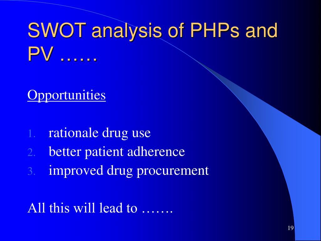 SWOT analysis of PHPs and PV ……
