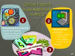 critical factors to be addressed in africa