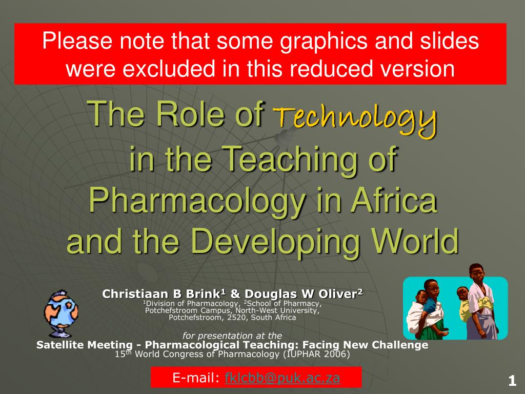the role of technology in the teaching of pharmacology in africa and the developing world l.