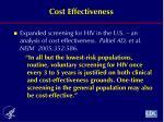 cost effectiveness1