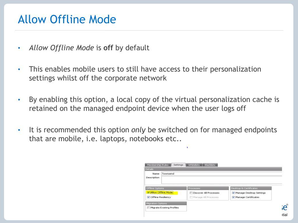 Allow Offline Mode