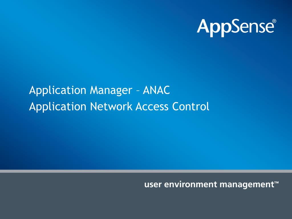 Application Manager –
