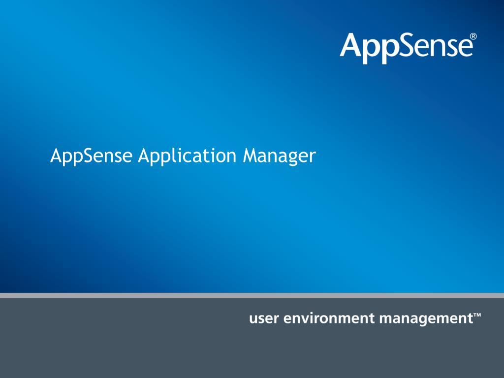 AppSense Application Manager
