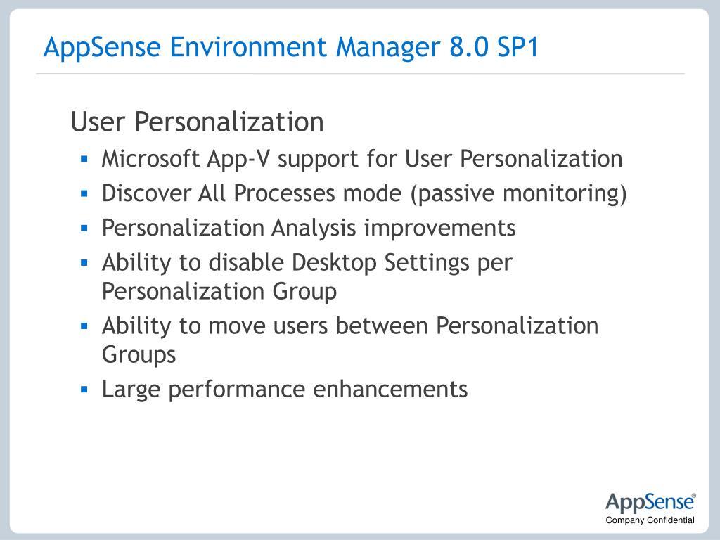 AppSense Environment Manager 8.0 SP1