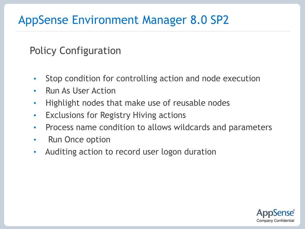 AppSense Environment Manager 8.0 SP2