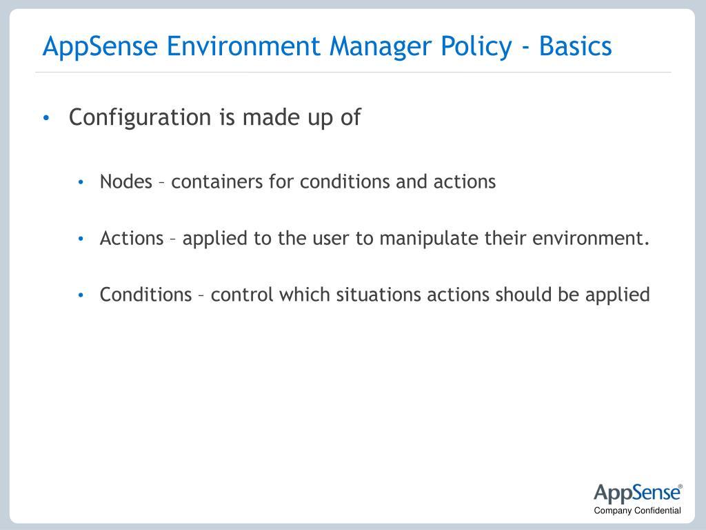 AppSense Environment Manager Policy - Basics
