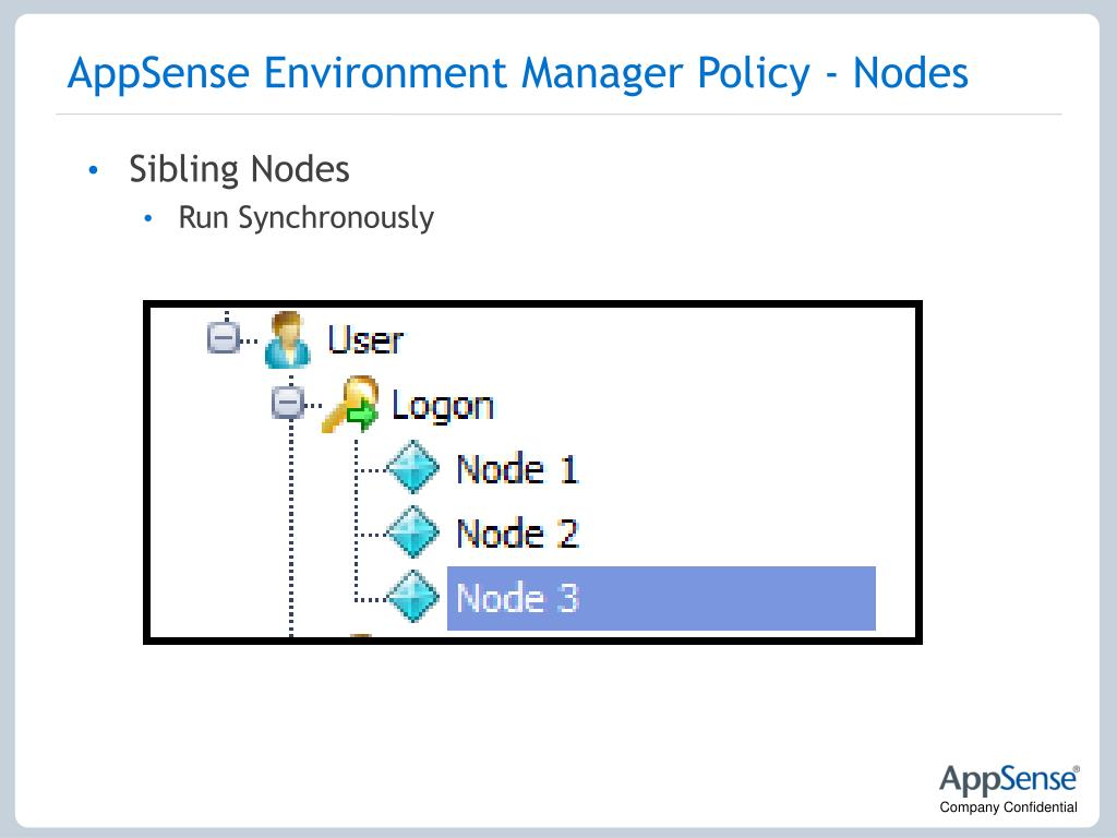 AppSense Environment Manager Policy - Nodes