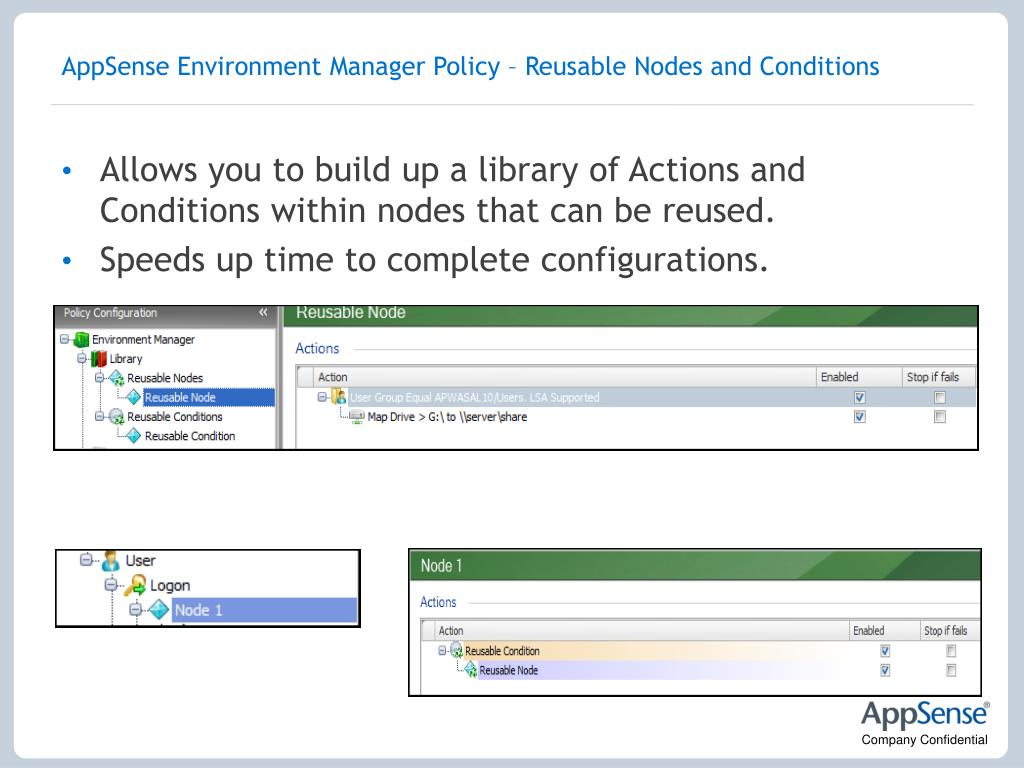 AppSense Environment Manager Policy – Reusable Nodes and Conditions