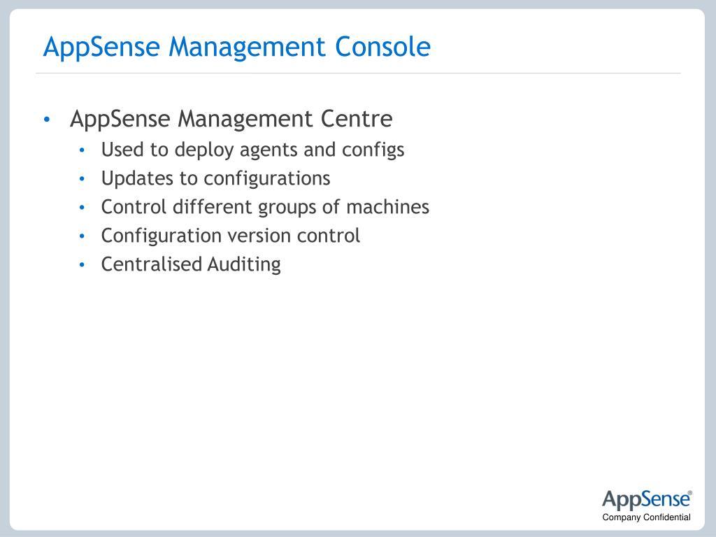 AppSense Management Console