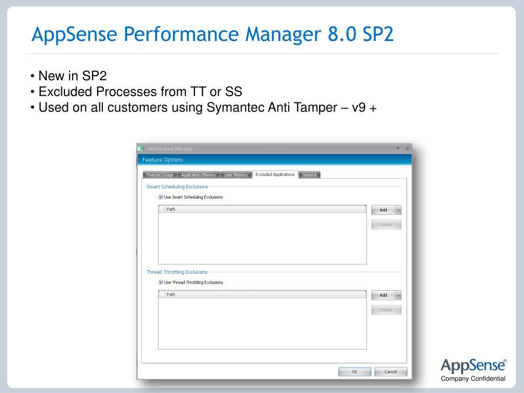 AppSense Performance Manager 8.0 SP2
