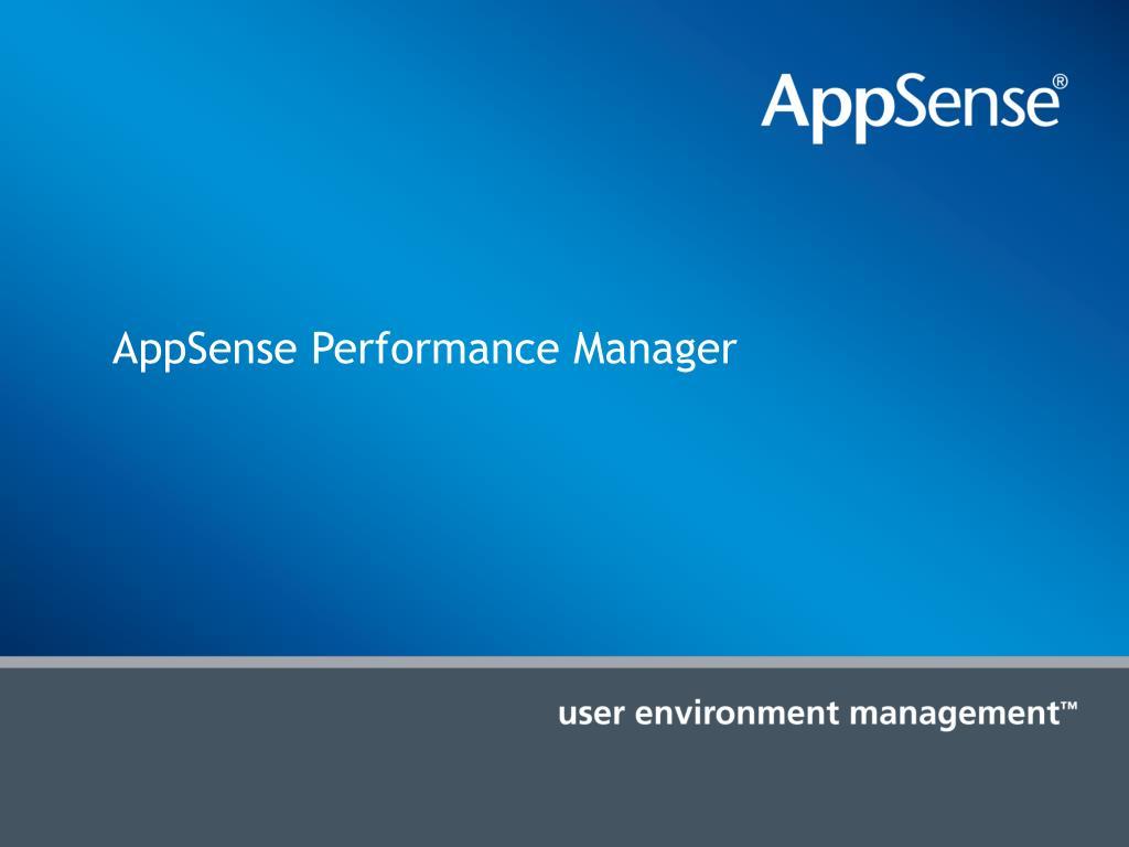 AppSense Performance Manager