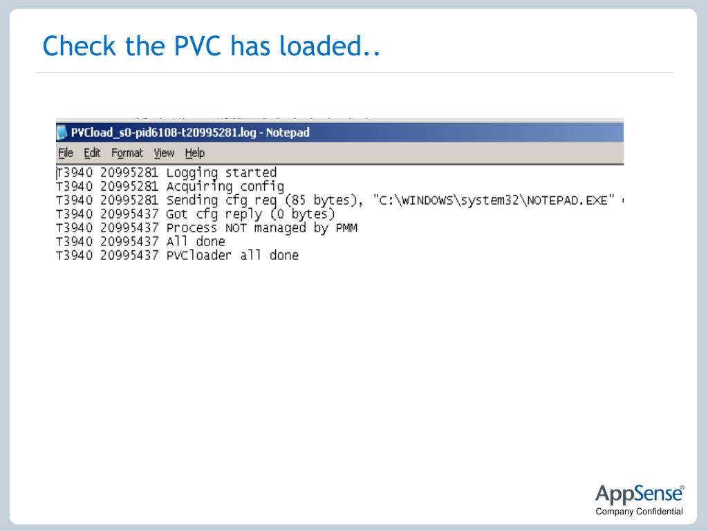 Check the PVC has loaded..