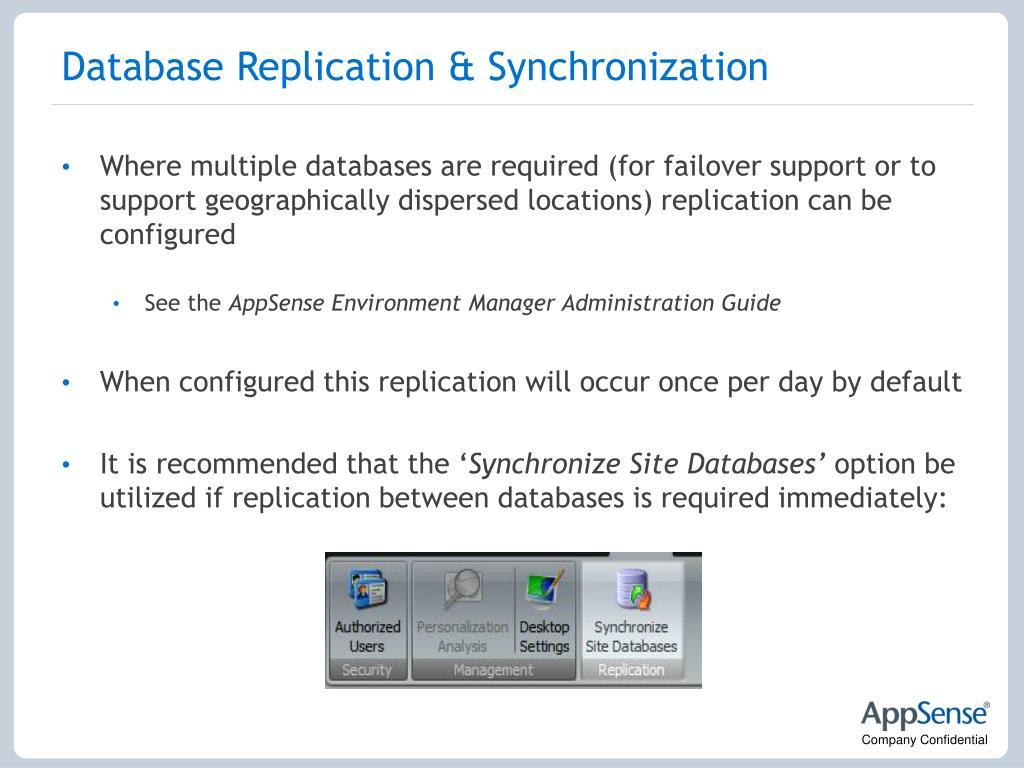 Database Replication & Synchronization