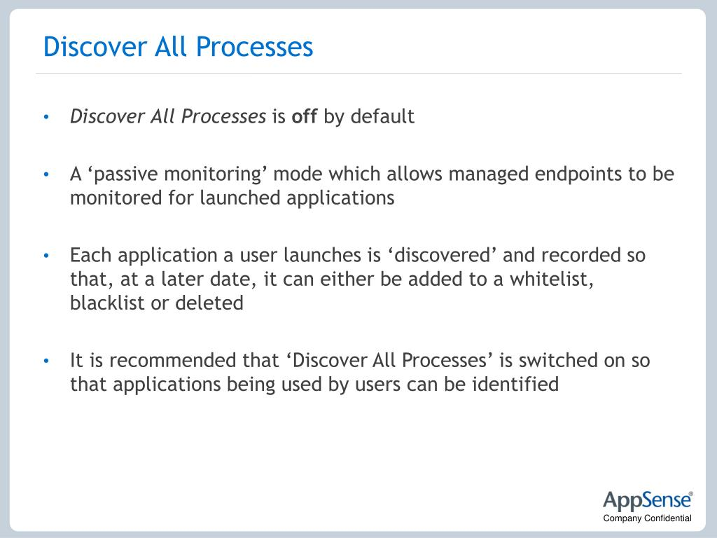 Discover All Processes