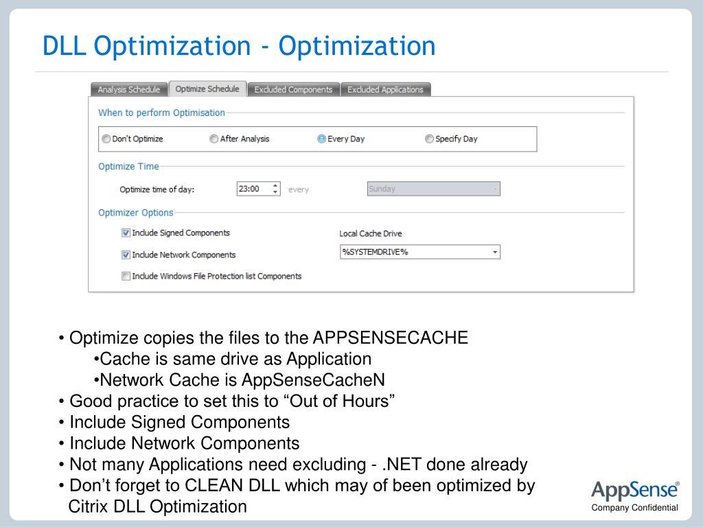 DLL Optimization - Optimization