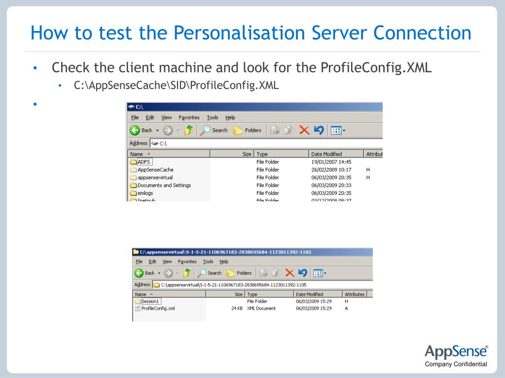 How to test the Personalisation Server Connection
