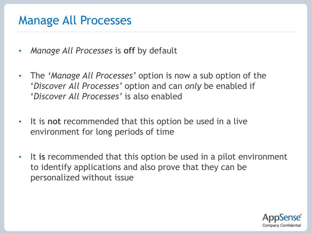 Manage All Processes