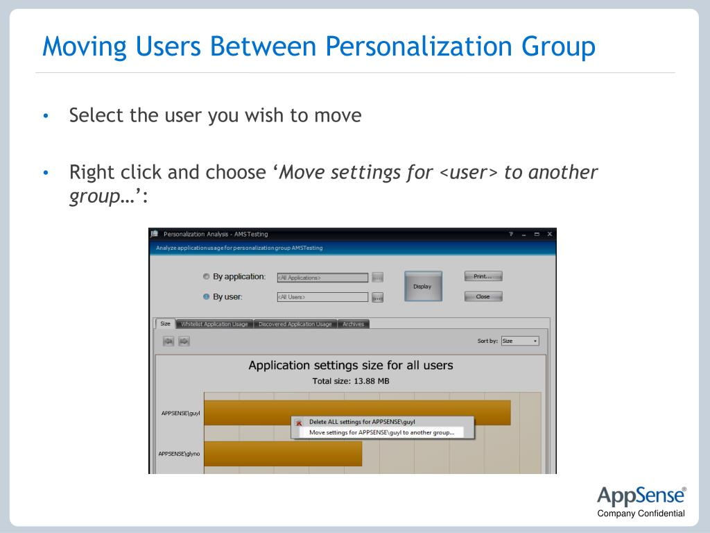 Moving Users Between Personalization Group