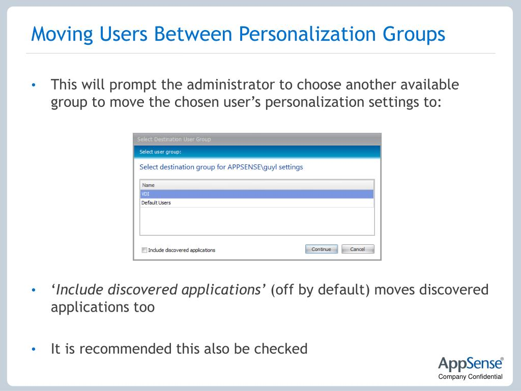 Moving Users Between Personalization Groups