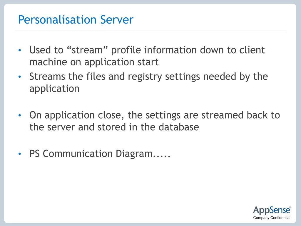 Personalisation Server