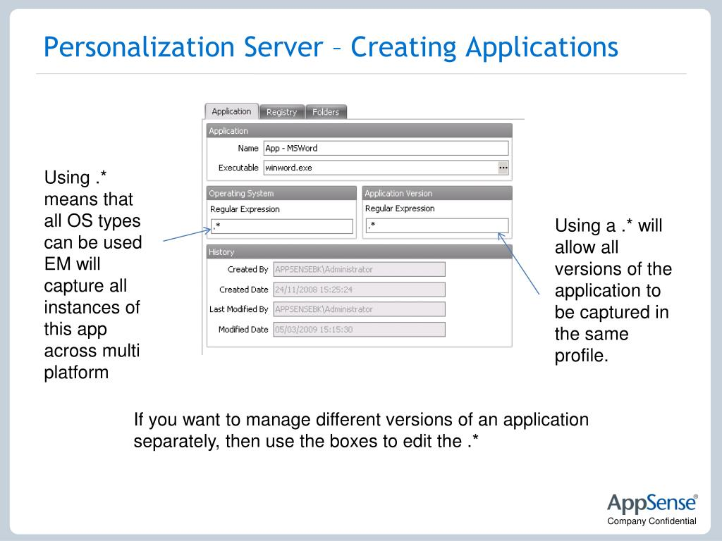 Personalization Server – Creating Applications