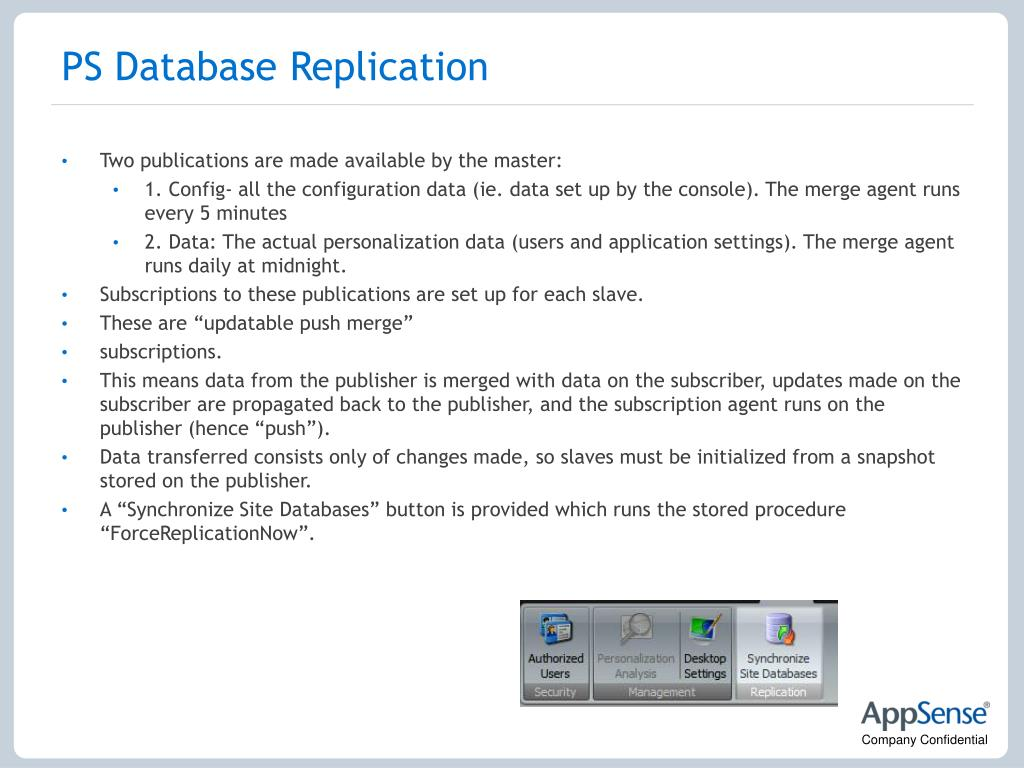 PS Database Replication