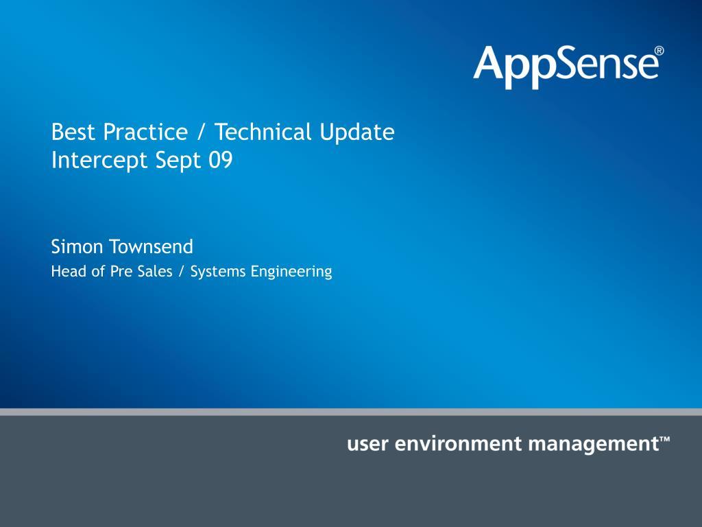 Best Practice / Technical Update
