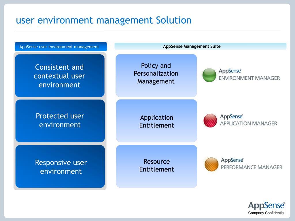user environment management Solution