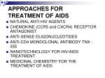 approaches for treatment of aids